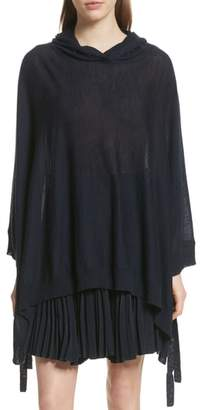 Vince Hooded Wool & Cashmere Poncho