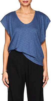 Lilla P WOMEN'S FLUTTER-SLEEVE PIMA COTTON-BLEND T-SHIRT