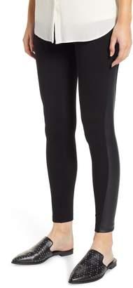 Lysse Gemma Faux-Leather Panel Ankle Leggings