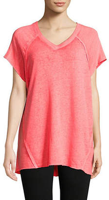 Calvin Klein Split Back Seam Terry Top