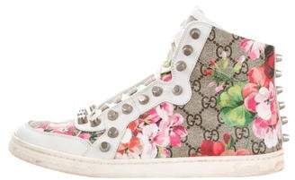 Gucci GG Floral High-Top Sneakers