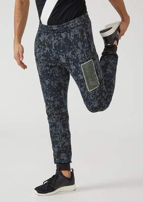 Emporio Armani Joggers With Camouflage Pattern And Printed Ea7 Logo