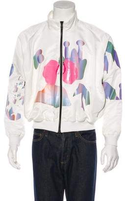 Sankuanz Graphic Applique Bomber Jacket