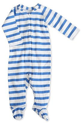Infant Boy's Aden + Anais Striped Long Sleeve Zipper One-Piece $29.95 thestylecure.com