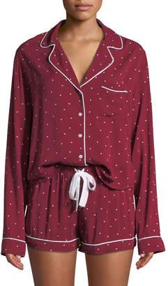 Rails Mini Hearts Long-Sleeve Shortie Pajama Set