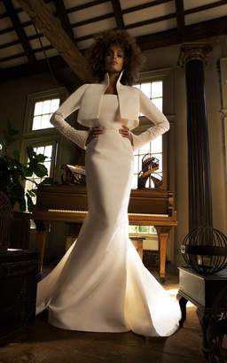 Isa Belle Isabelle Armstrong Diana Silk Faille Gown