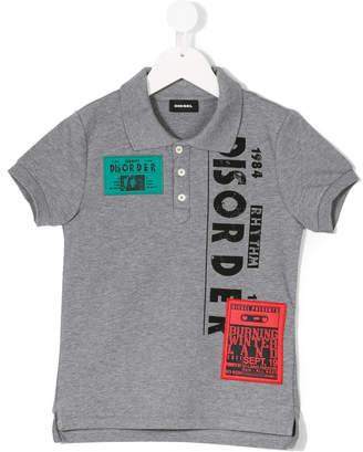 Diesel rhythm disorder print polo shirt