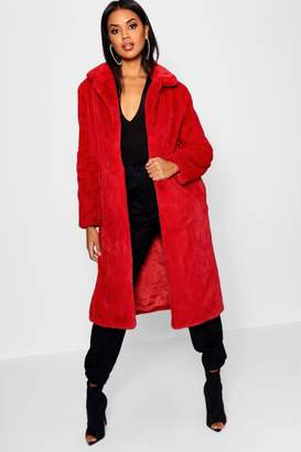 boohoo Maxi Soft Faux Fur Coat