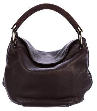 Akris Leather Allegra Satchel