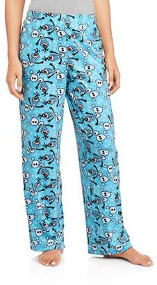 Briefly Stated Disney Frozen Women's Olaf Micro Fleece Pajama Sleep Pants (Large 12/14)