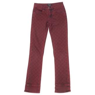 Chanel Burgundy Cotton - elasthane Jeans