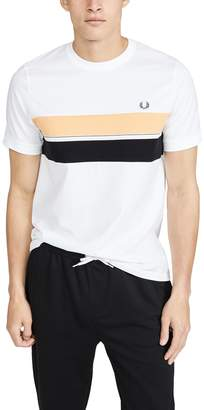 Fred Perry Striped Chest Panel Tee