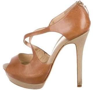 Alexandre Birman Leather Ankle Strap Pumps