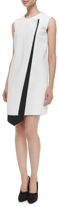 Derek Lam Layer Asymmetric Bicolor Dress $1,490 thestylecure.com