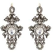 Stephanie Windsor Antiques Women's Crystal-Embellished Chandelier Earrings - Silver