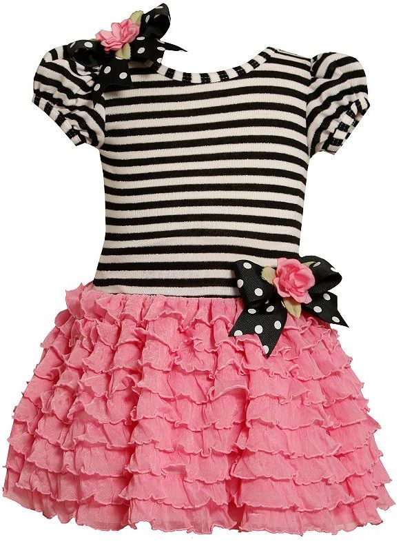 Bonnie Jean striped ruffled dress - toddler