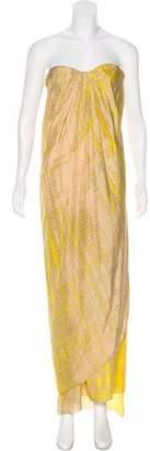 Alexander McQueen Printed Strapless Dress