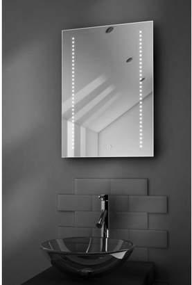 Diamond X Collection Gaze Ultra-Slim Bathroom Mirror With Clock, Demisting Pad & Sensor k184