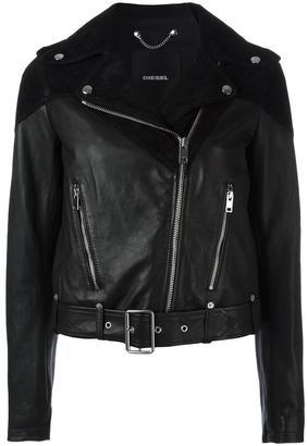 Diesel biker leather jacket $557.26 thestylecure.com