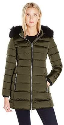 ADD Women's Down Coat with Fur Border
