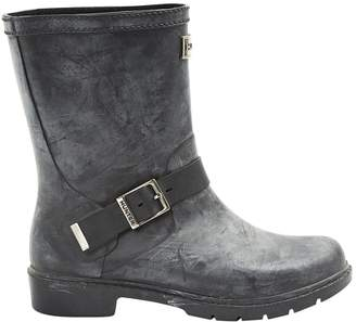 Hunter Black Leather Boots