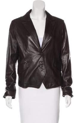 Calvin Klein Collection Structured Leather Blazer