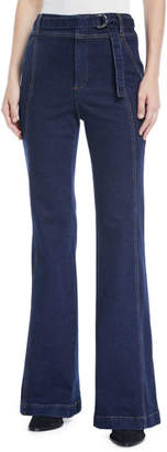 A.L.C. Byron High-Rise Belted Flare-Leg Jeans
