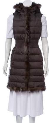 Dawn Levy Fur-Trimmed Puffer Vest