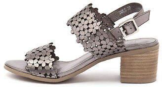 Django & Juliette New Dols Pewter Womens Shoes Casual Sandals Heeled