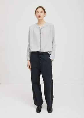 Pas De Calais Cotton Linen Pants Black