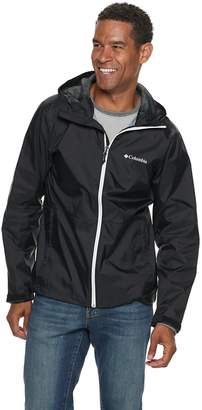 Columbia Men's Roan Mountain Colorblock Packable Rain Jacket