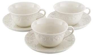 Wedgwood 6-Piece Ralph Lauren Claire Teacup & Saucer Set