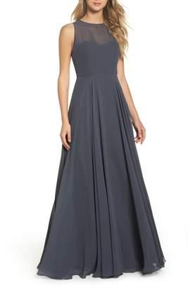 Jenny Yoo Elizabeth Chiffon Gown