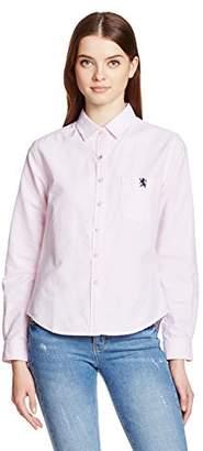 Giordano (ジョルダーノ) - (ジョルダーノ) GIORDANO(ジョルダーノ) ライオン刺繍オックスシャツ GD17SP01-L002 043 ピンク L