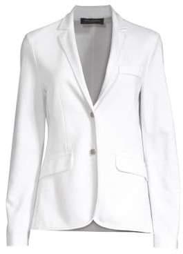 Piazza Sempione Women's Unstructured Blazer Jacket - Optical White - Size 42 (6)