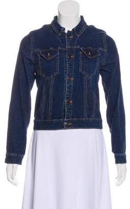 Anna Sui Denim Button-Up Jacket