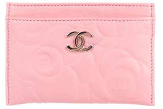 Chanel Camellia Card Holder