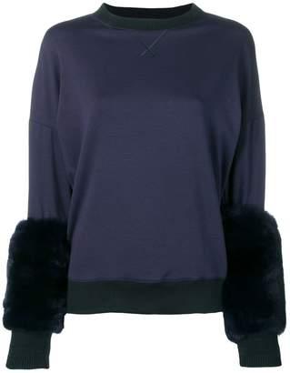 Mr & Mrs Italy fur-trim sweater