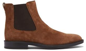 Tod's Suede Chelsea Boots - Mens - Tan