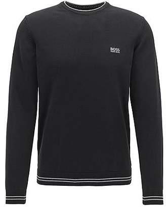 HUGO BOSS Crew-neck sweater in a cotton blend