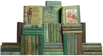 One Kings Lane Vintage Vintage Green Children's Library - Set of 45