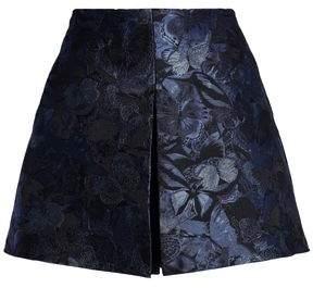 Valentino Silk Floral-Jacquard Shorts