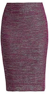 St. John Women's Tweed Pencil Skirt