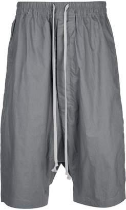 Rick Owens dropped-crotch shorts