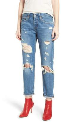 Levi's 501(TM) Taper Ripped Boyfriend Jeans