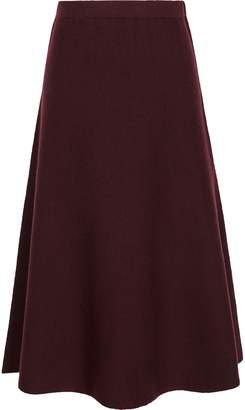 Reiss Amy - Fluted Hem Skirt in Berry