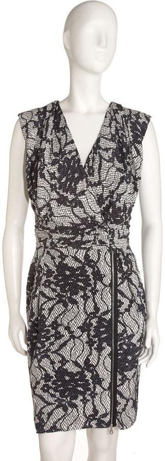 Bensoni Lace Print Wrap Dress