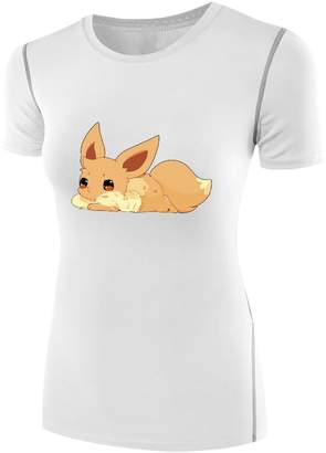 Pokemon Sysuer Tank Sysuer Lady Japan Anime Eevee Fox Under Wear Tshirt Tees