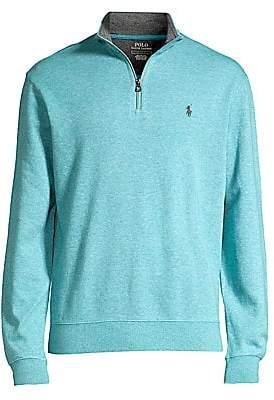Polo Ralph Lauren Men's Double-Knit Jersey Quarter-Zip Top