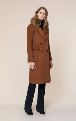 Soia & Kyo LORENZA-R slim fit classic wool coat with removable fur